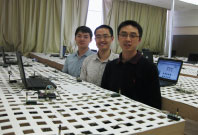 KanseiGENI team members at Wayne State University: Xiaohui Liu, Xi Ju, Hongwei Zhang 