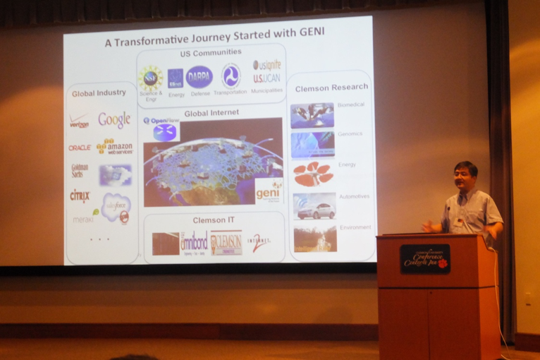 Figure 4. K-C Wang of Clemson University describes how his research was transformed by the GENI infrastructure.