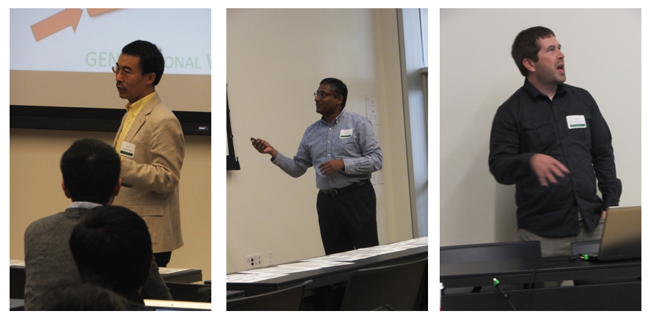 Jun Li, Prasad Calyam and Eric Keller make presentations at the GRW.